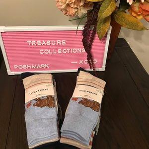 Mens Spring Bear Crew Socks 🧦 Lucky Brand